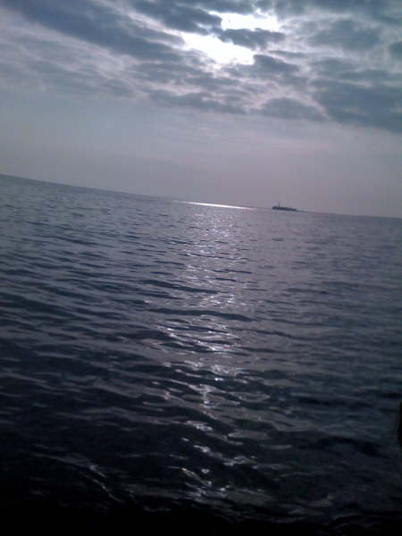 The Caspian Sea, from Baku, Azerbaijan
